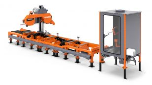 WM4500 Industrial Sawmill with operator cabin