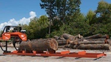 LX150 Twin Rail Portable Sawmill with log