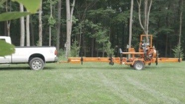 Wood-Mizer portable sawmill easy transport