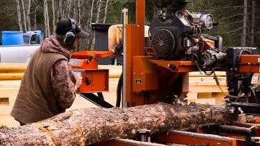Sawing Lumber for Cabins in Michigan