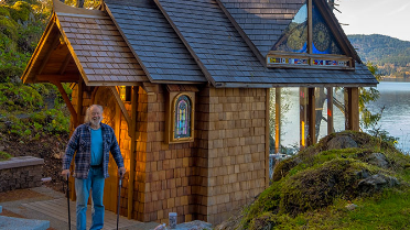 Mathematics Professor Builds Cedar Chapel by the Salish Sea
