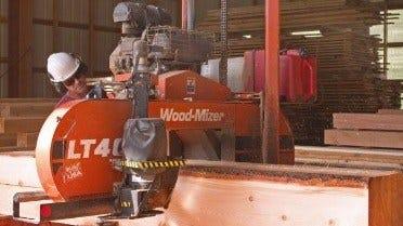 Morris Sawmill and Lumber Wood-Mizer LT40 Hydraulic portable sawmill