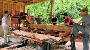 Narrow Gate portable sawmill
