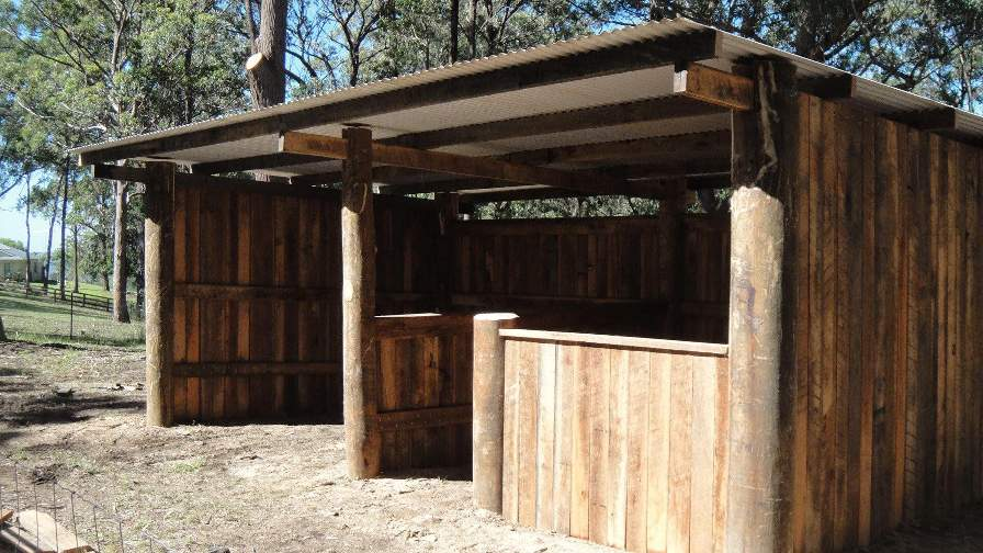 Wood outbuilding