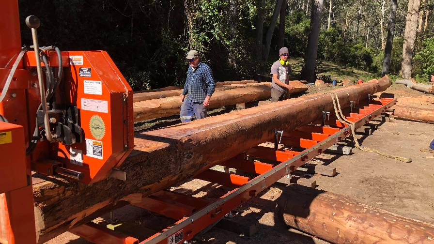 LT15WIDE portable sawmill in Australia