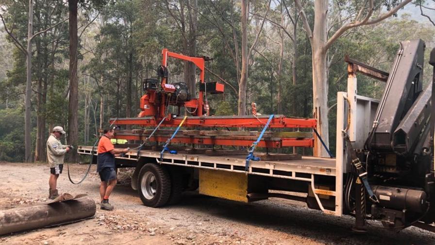 Portable sawmill in Australia