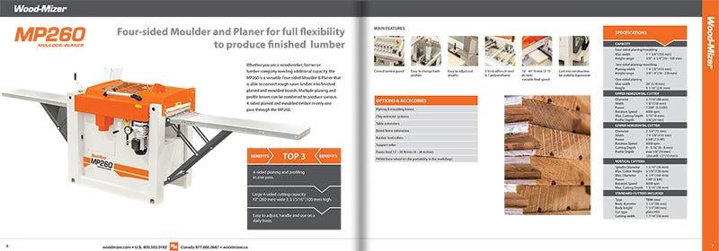 Planer/Moulder Catalogue Spread