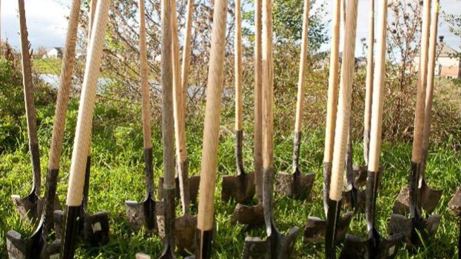 Tree Canada shovels