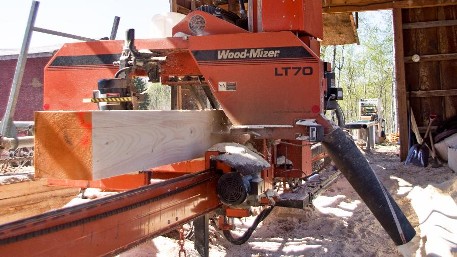Christiansen Lumber Cant Sawing