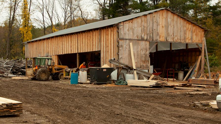 Wooden barn in New York