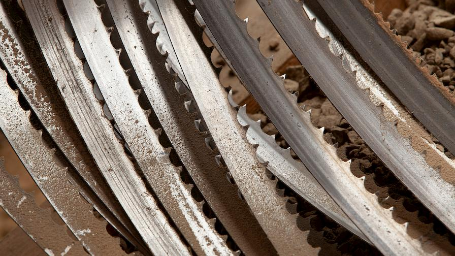 Stack of sawmill blades
