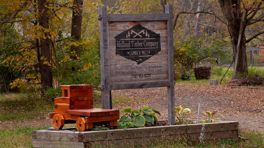 Holland Timber Company Sign