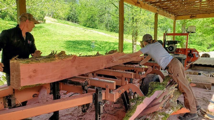 Narrow Gate cedar boards sawmill