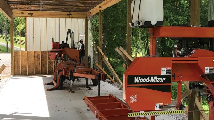 Narrow Gate Wood-Mizer portable sawmills