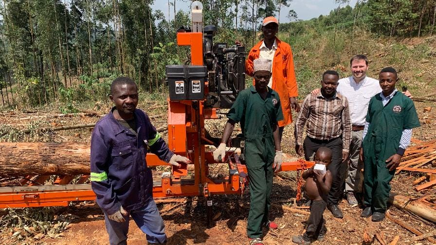 Narrow Gate Uganda portable sawmill