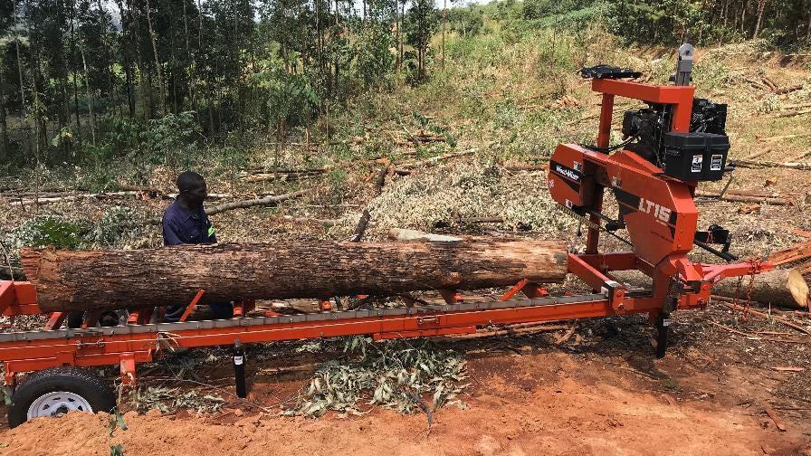 Narrow Gate portable sawmill Uganda