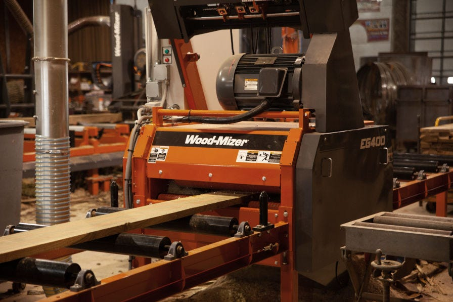 Wood-Mizer EG400 industrial board edger