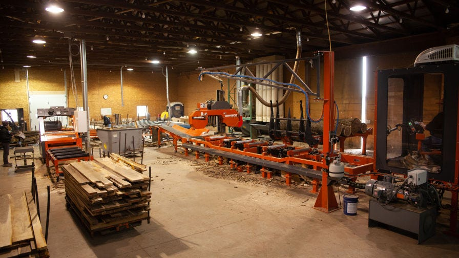 L Garbers and Sons Sawmill system