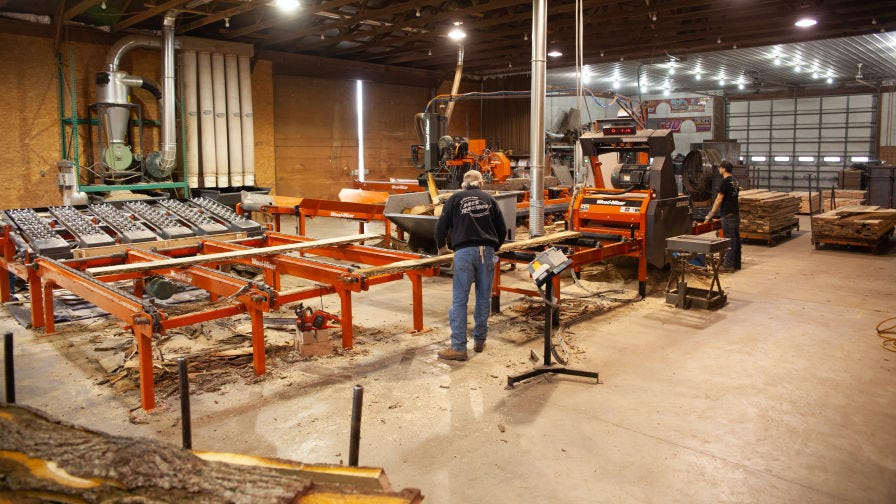 L Garbers and Sons Sawmill industrial system