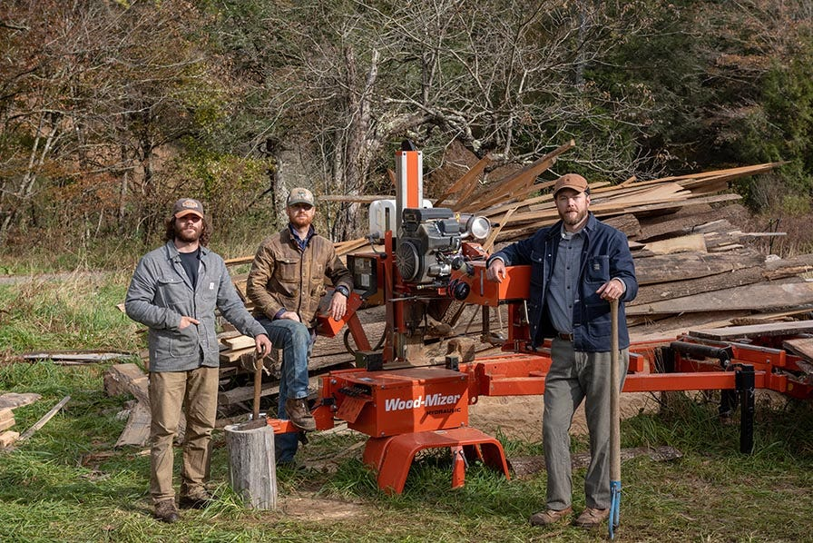 Mountain Works with Wood-Mizer portable sawmill