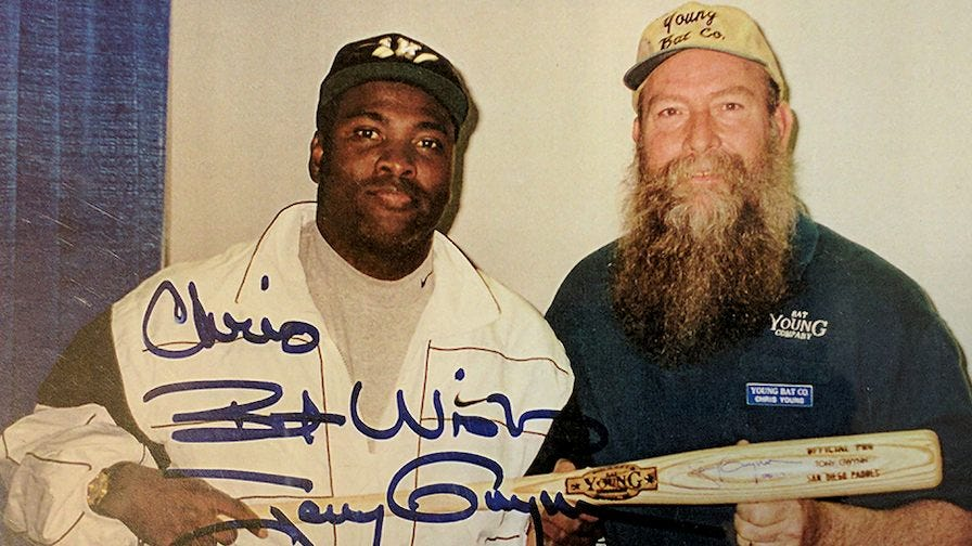 Chris Young with Tony Gwynn