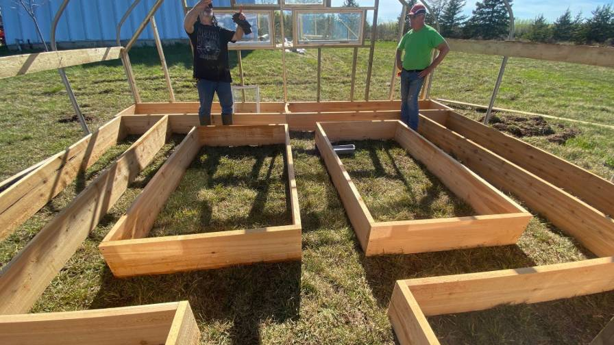 Building a wood greenhouse