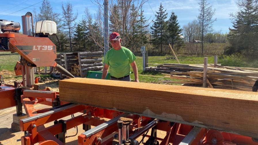 Phillips and Wood-Mizer portable sawmill