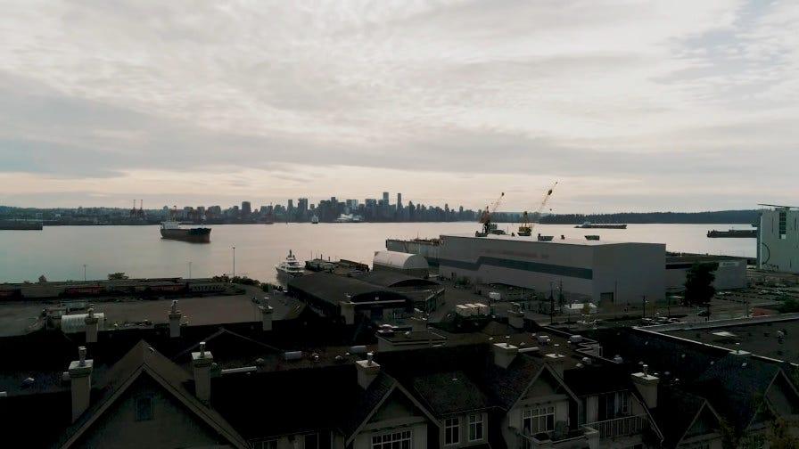Urban city Vancouver Canada