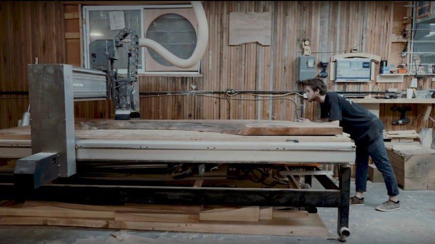 Van Urban Timber sawyer in worksop